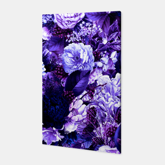 winter flowers seamless pattern 01 big purple Canvas thumbnail image