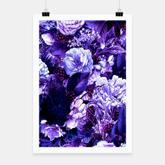 winter flowers seamless pattern 01 big purple Poster thumbnail image