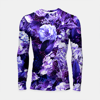 winter flowers seamless pattern 01 big purple Longsleeve rashguard  thumbnail image
