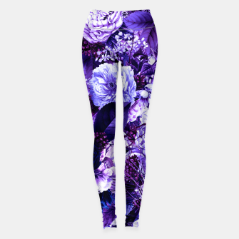 winter flowers seamless pattern 01 big purple Leggings thumbnail image