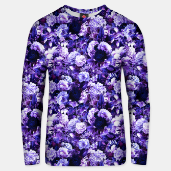 winter flowers seamless pattern 01 small purple Unisex sweater thumbnail image