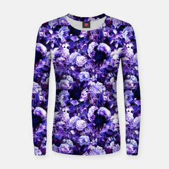 winter flowers seamless pattern 01 small purple Women sweater thumbnail image