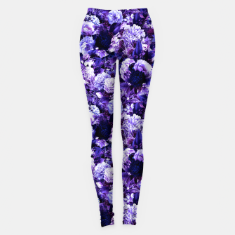 Miniaturka winter flowers seamless pattern 01 small purple Leggings, Live Heroes