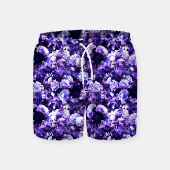 winter flowers seamless pattern 01 small purple Swim Shorts thumbnail image