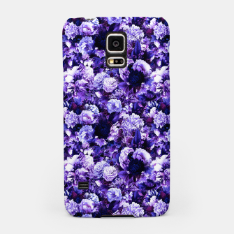 winter flowers seamless pattern 01 small purple Samsung Case thumbnail image