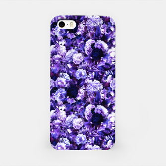 winter flowers seamless pattern 01 small purple iPhone Case thumbnail image