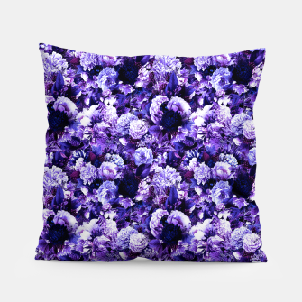 winter flowers seamless pattern 01 small purple Pillow thumbnail image