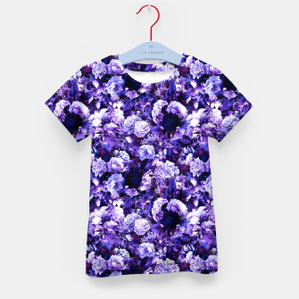 winter flowers seamless pattern 01 small purple Kid's t-shirt thumbnail image