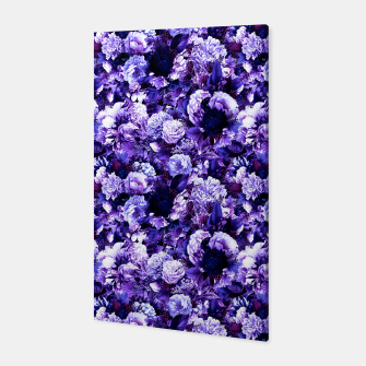 winter flowers seamless pattern 01 small purple Canvas thumbnail image
