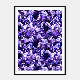 winter flowers seamless pattern 01 small purple Framed poster thumbnail image