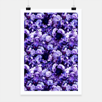 winter flowers seamless pattern 01 small purple Poster thumbnail image
