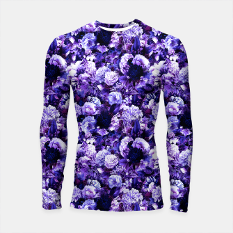 winter flowers seamless pattern 01 small purple Longsleeve rashguard  thumbnail image