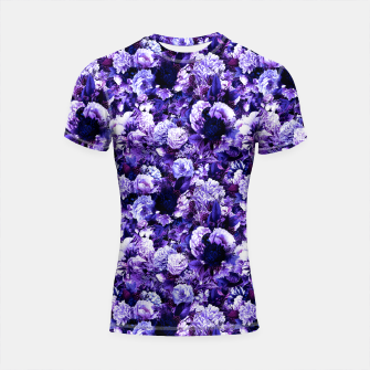 winter flowers seamless pattern 01 small purple Shortsleeve rashguard thumbnail image
