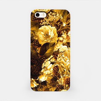 winter flowers seamless pattern 01 big warm yellow iPhone Case thumbnail image