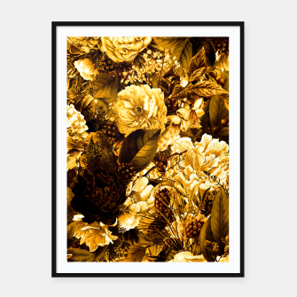 Thumbnail image of winter flowers seamless pattern 01 big warm yellow Framed poster, Live Heroes