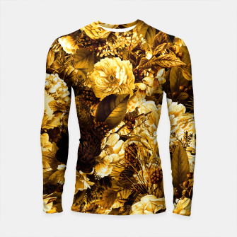 Thumbnail image of winter flowers seamless pattern 01 big warm yellow Longsleeve rashguard , Live Heroes