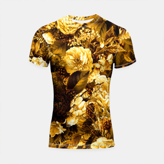 Thumbnail image of winter flowers seamless pattern 01 big warm yellow Shortsleeve rashguard, Live Heroes