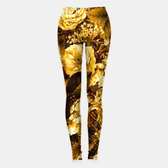 Thumbnail image of winter flowers seamless pattern 01 big warm yellow Leggings, Live Heroes