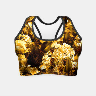 Thumbnail image of winter flowers seamless pattern 01 big warm yellow Crop Top, Live Heroes