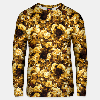Thumbnail image of winter flowers seamless pattern 01 small warm yellow Unisex sweater, Live Heroes