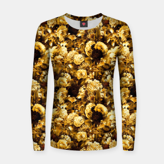 Thumbnail image of winter flowers seamless pattern 01 small warm yellow Women sweater, Live Heroes