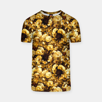 Thumbnail image of winter flowers seamless pattern 01 small warm yellow T-shirt, Live Heroes