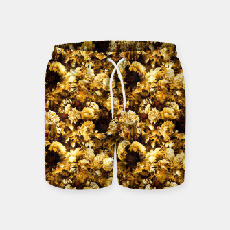 Thumbnail image of winter flowers seamless pattern 01 small warm yellow Swim Shorts, Live Heroes