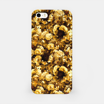 Thumbnail image of winter flowers seamless pattern 01 small warm yellow iPhone Case, Live Heroes