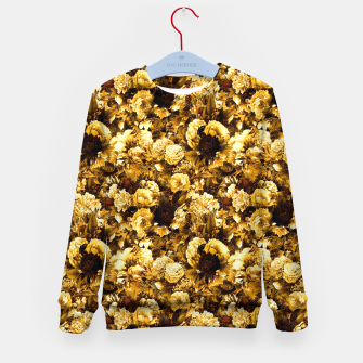 Thumbnail image of winter flowers seamless pattern 01 small warm yellow Kid's sweater, Live Heroes