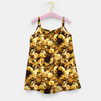 Thumbnail image of winter flowers seamless pattern 01 small warm yellow Girl's dress, Live Heroes