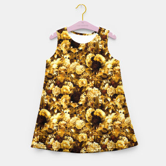 Thumbnail image of winter flowers seamless pattern 01 small warm yellow Girl's summer dress, Live Heroes