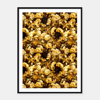 Thumbnail image of winter flowers seamless pattern 01 small warm yellow Framed poster, Live Heroes