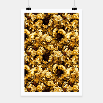 Thumbnail image of winter flowers seamless pattern 01 small warm yellow Poster, Live Heroes