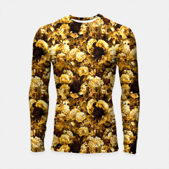 Thumbnail image of winter flowers seamless pattern 01 small warm yellow Longsleeve rashguard , Live Heroes