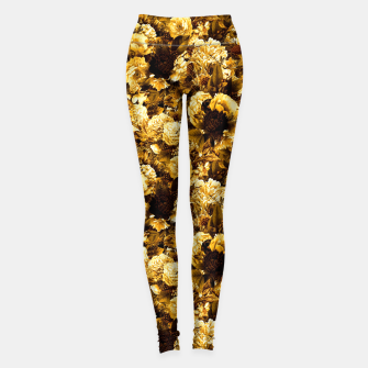 Thumbnail image of winter flowers seamless pattern 01 small warm yellow Leggings, Live Heroes
