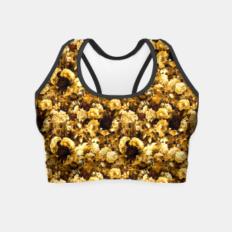 Thumbnail image of winter flowers seamless pattern 01 small warm yellow Crop Top, Live Heroes
