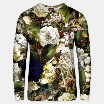 winter flowers seamless pattern 01 big Unisex sweater thumbnail image