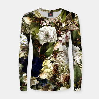 winter flowers seamless pattern 01 big Women sweater thumbnail image