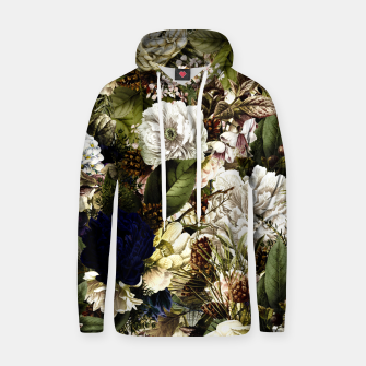 winter flowers seamless pattern 01 big Hoodie thumbnail image