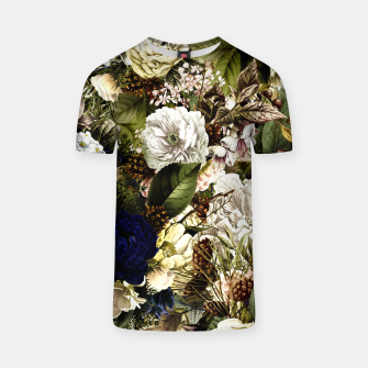 winter flowers seamless pattern 01 big T-shirt thumbnail image