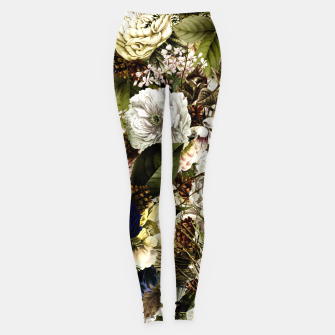 winter flowers seamless pattern 01 big Leggings thumbnail image