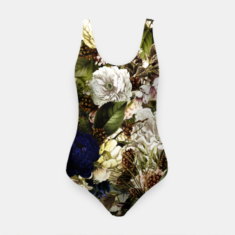 winter flowers seamless pattern 01 big Swimsuit thumbnail image