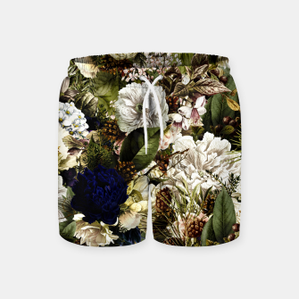 winter flowers seamless pattern 01 big Swim Shorts thumbnail image
