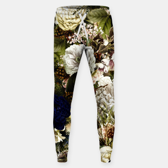 winter flowers seamless pattern 01 big Sweatpants thumbnail image