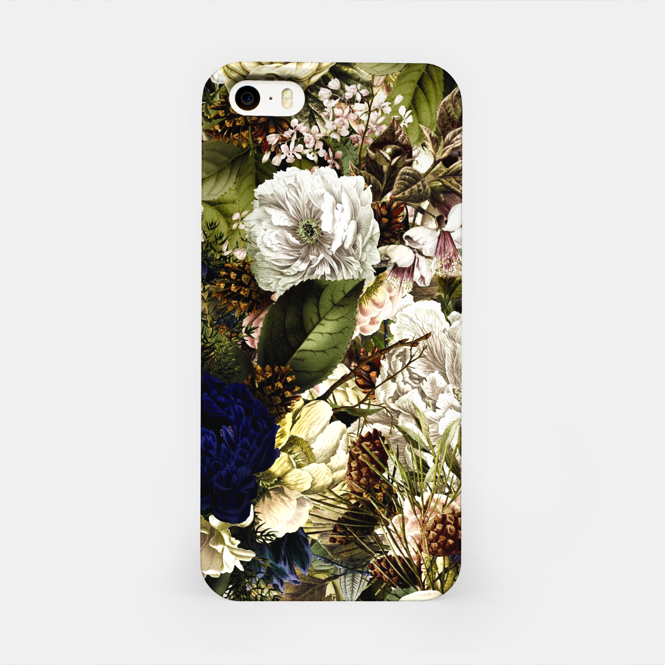 Image of winter flowers seamless pattern 01 big iPhone Case - Live Heroes