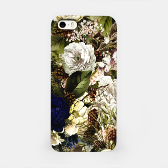 winter flowers seamless pattern 01 big iPhone Case thumbnail image