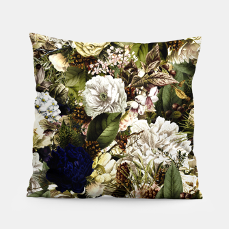 winter flowers seamless pattern 01 big Pillow thumbnail image