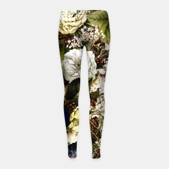 winter flowers seamless pattern 01 big Girl's leggings thumbnail image