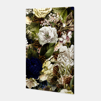 winter flowers seamless pattern 01 big Canvas thumbnail image