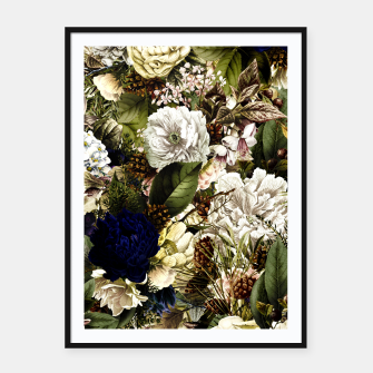 winter flowers seamless pattern 01 big Framed poster thumbnail image